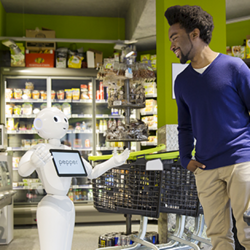 Attract your customers with Pepper and NAO the humanoid and programmable robots of SoftBank Robotics