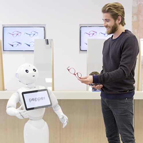 Inform and recommend your customers with Pepper and NAO the humanoid and programmable robots of SoftBank Robotics